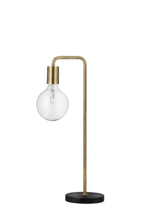 COOL BORDLAMPE, ANTIKK MESSING