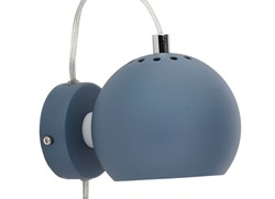 BALL VEGGLAMPE, Ø12 DUST BLUE