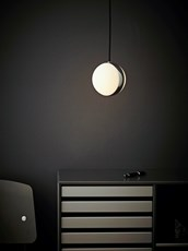 CIRCLE LED PENDEL, KROM/HVIT