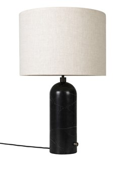 GRAVITY BORDLAMPE, LITEN SORT MARMOR/CANVAS