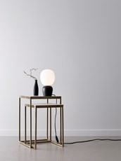 BUDDY BORDLAMPE, SORT/OPAL